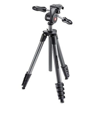 Manfrotto Compact Advanced Tripod with 3-Way Head (Black)
