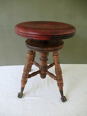 Fabulous Antique Piano Stool Chas Parker Co Victorian Wood Metal Ocoug Best Dining Table And Chair Ideas Images Ocougorg