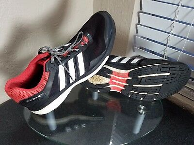 729a606fc ADIDAS SUPERNOVA GLIDE 7 Boost Mens Size 12.5 Black   White   Red Running  Shoes -  17.95