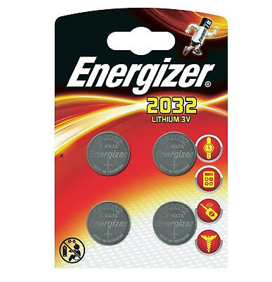Genuine Energizer 4X Cr2032 3V Lithium Coin Cell Battery 2032, Dl2032, Br2032