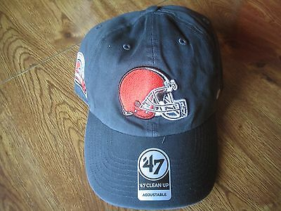 e9aac7a6 Cleveland Browns '47 Brand Clean Up Hat Adjustable New NWT Season Ticket  Holder