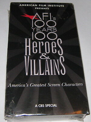 AFI's 100 YEARS .. 100 HEROES & VILLAINS vhs video RARE