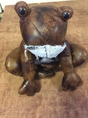 Faux Leather Frog Doorstop Frog Door Wedge Door Stay Frog Lovers Gift