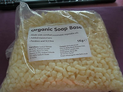 Organic Soap Base Noodle for Soap Making Certified Sustainable Ingredients