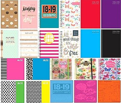 2018-2019 Mid-Year Diary Academic Student Planner Organiser A5 Slim WTV and DAP