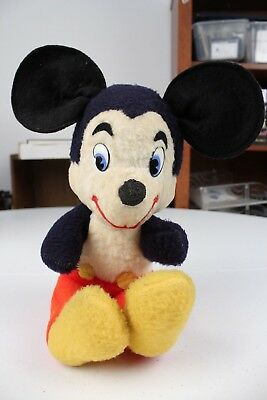 """Walt Disney Characters Mickey Mouse 10"""" plush Vintage"""