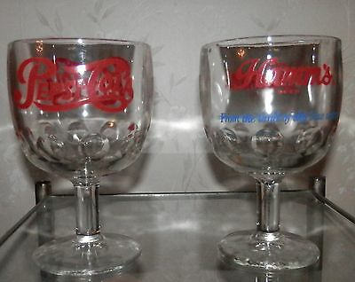 Pair of vintage glass goblets
