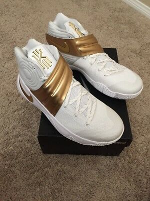3c9dc7a7df7 ... best price nike kyrie 2 id white gold size 10 100 authentic 2e078 ae313