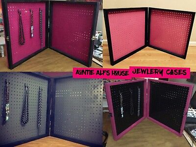 4-TableTop Jewelry Display Show Case 24x3x48 Hot Pink n Black Paparazzi Style