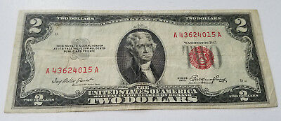 USA 1953 Series Star Notes $2 Two Dollar Bill Banknote Currency Red Seal  RARE