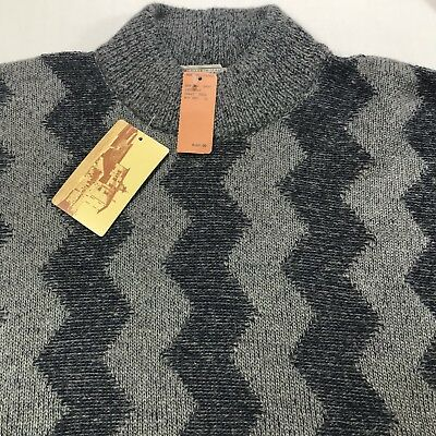 a0a2fa121e17 NWT Vintage Bergdorf Goodman Sweater Gray Italy Wool Mohair Mens Size XL