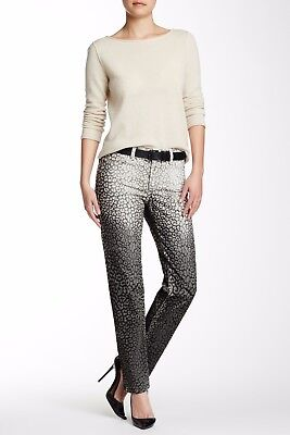 NWT NYDJ Not Your Daughters Jeans Sheri OMBRE Cheetah Multi SKINNY $140 Size 6P
