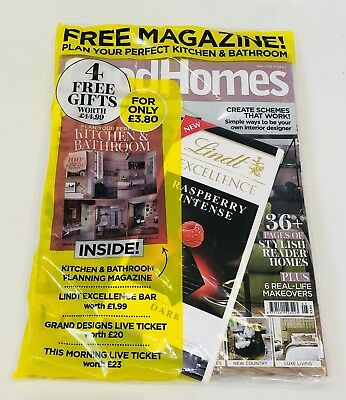 GOOD HOMES MAGAZINE MAY 2018 With 4 FREE GIFTS! (BRAND NEW SEALED PACK)