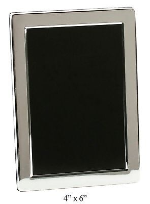 """Silver Plated Contemporary 4"""" x 6"""" Photo Frame By Haysom Interiors"""