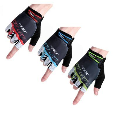 BATFOX Cycling Half Short Finger Gloves Bicycle Gloves Men Women Bike Mitts G OK