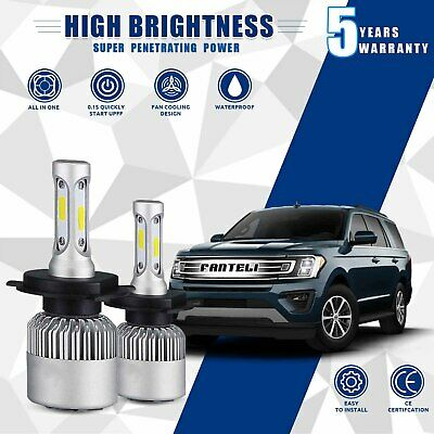 CREE COB H4 HB2 9003 1500W 225000LM LED Headlight Kit Hi/Lo Power Bulbs 6000K