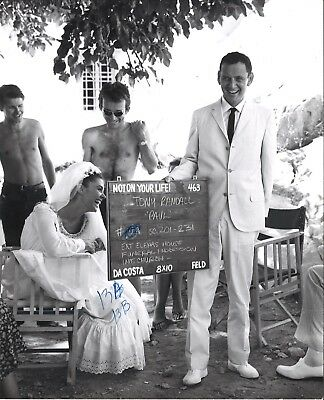 *ISLAND OF LOVE (1963) On-Set Candid Shot in Greece Tony Randall & Giorgia Moll