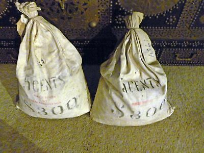2 Royal Canadian Mint SEALED $300 Bags of 1964 Canadian Nickels - NEVER OPENED!