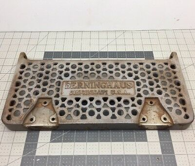 "Berninghaus Barber Shop Chair Parts • Cast Iron Footrest Step 15-7/8""x6-3/4"" #6"