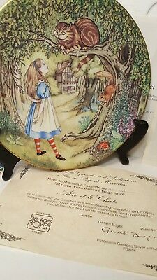 Limoges France Alice In Wonderland ALICE & THE CHESHIRE CAT Collector Plate MIB