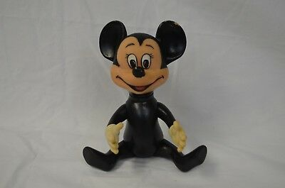 Vintage Rubber Mickey Mouse Squeak Toy Doll Figure Retro Collectible Disney