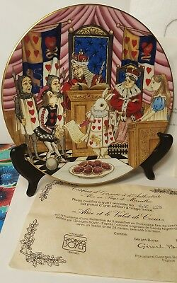 Limoges France Alice in Wonderland THE KNAVE OF HEARTS Collector Plate MIB COA