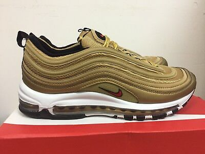 NIKE AIR MAX 97 OG QS Metallic Gold Varsity Red Size 11
