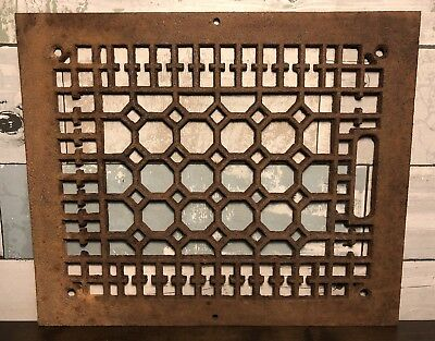 Antique Cast Iron Ornate Heat Grate Architectural Salvage