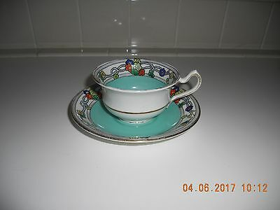 Antique England CORONET Bone China Cup and Saucers Trade Mark Registered 3735 T