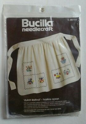 Bucilla Needlecraft Dutch Festival Hostess Apron Kit # 48759 NEW