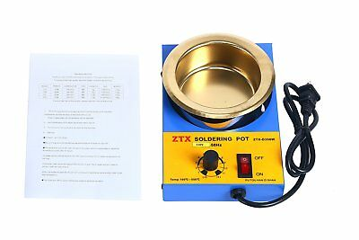 350W Lead Free Solder Pot Tin Melting Furnace Desoldering Bath Φ100mm 2.3kg 110V
