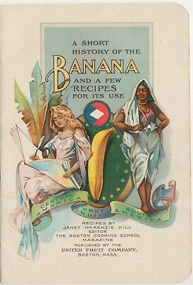 1904 History Of The Banana Janet Mckenzie Hill United Fruit Co. Steam Ship Lines