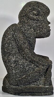 """Large 14"""" High Pre-Columbian Style Volcanic Stone Carving Sculpture"""
