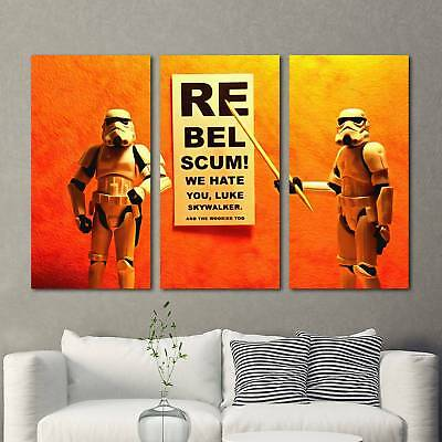 Stormtrooper Star Wars Poster 3PCS HD Canvas Print Home Decor Wall Art Picture