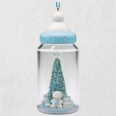 Hallmark 2018 ~ Baby Boy's First Christmas Baby Bottle Ornament