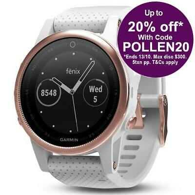 Garmin Fenix 5S Sapphire - Rose Gold with AUST GARMIN WARRANTY