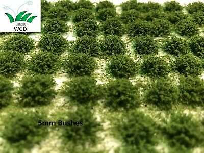 Bushes or Leafy Static  Grass Tufts 5mm high Self-Adhesive