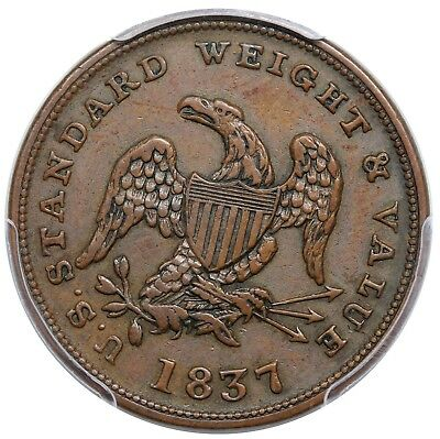 1837 Half Cent Hard Times Token, Low 49, HT-73, PCGS XF45, choice