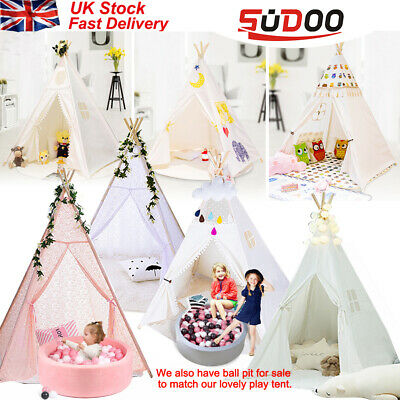 SUDOO Children Kids Wigwam Teepee Play Tent Game Playhouse Foldable in/out door