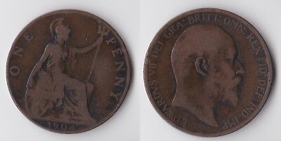 1904 Great Britain 1 penny coin