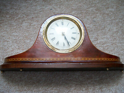 Vintage mantle clock with a battery clock movement working spare parts