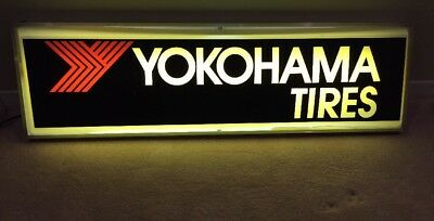"Lighted Yokohama Tire Sign—14""x49"" Great Man Cave Addition, Dallas Area Pickup"