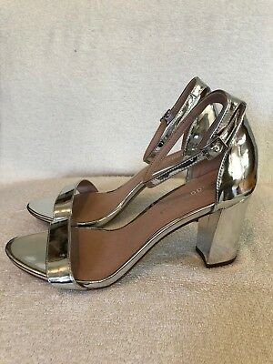 2ace102cd7b NEW MADDEN GIRL Beella Ankle Strap Dress Sandals Silver Metallic Womens  Size 8.5