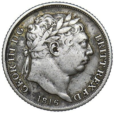 1816 Sixpence - George Iii British Silver Coin