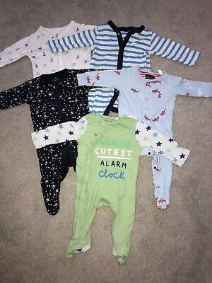 baby boys sleepsuits bundle 3-6 months (M & S, Joules, Debenhams and Next