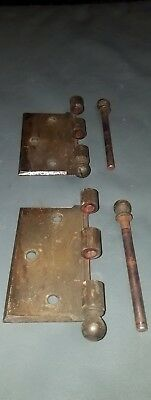 Antique steel Door Hinge Outside offset 90 degree hinge with pin SEE pics used