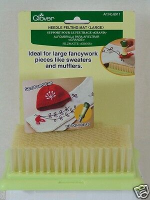 Needle Felting mat felt mat Large Small by Clover applique felting brush mat new