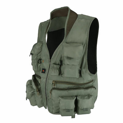 Fly Fishing Vest Quick Dry Ultra Light Fishing Waistcoat Breathable Multi-pocket