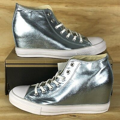 1aee143cfc1 Converse Chuck Taylor All Star Lux Metallic Mid Platform Blue Shoes 556780C  Size