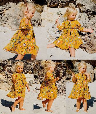 Toddler Infant Baby Girls Long Sleeve Floral Princess Party Pageant Dress Sets